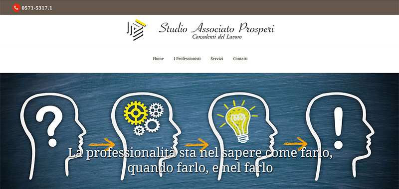 Studio Associato Prosperi - Coroporate WebSite