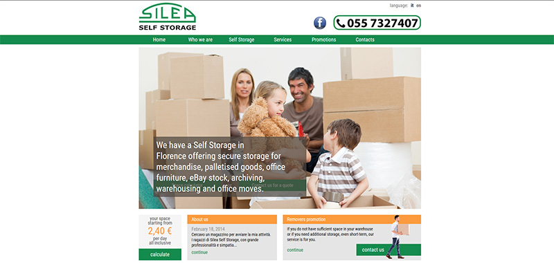 Silea Self Storage - Coroporate WebSite