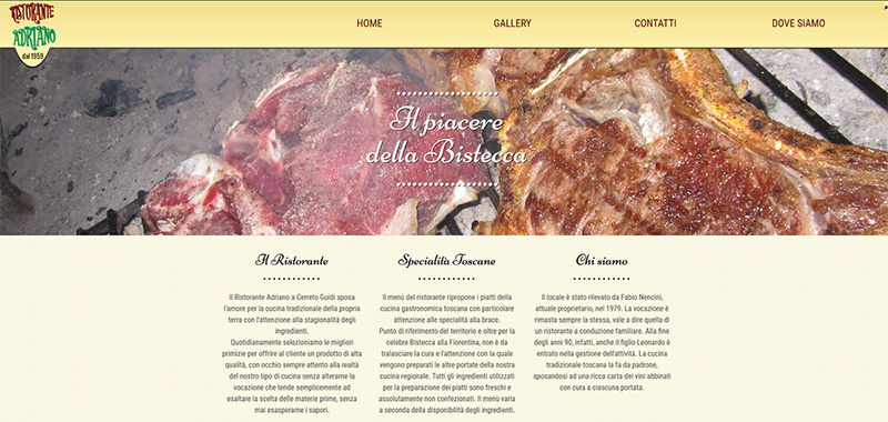 Ristorante Adriano - Coroporate WebSite